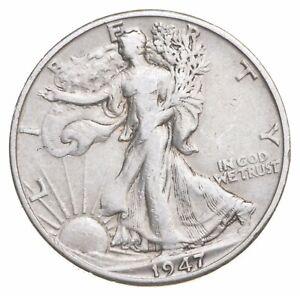 AU/Unc - 1947-D Walking Liberty Silver Half Dollar - Better *278