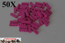 50X Lego® 3010 Basic Steine 1X4 Magenta, Violett, NEU
