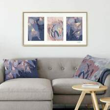 Blue Framed Triptych Canvas Botanicals  Lisa Pollock Australia