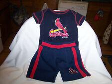 Adorable Infants St Louis Cardinal  Short Set Blue Size 6/9 Months