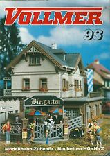 Catalogue VOLLMER 1993 Modélisme ferroviaire gare batiment industriel catalog