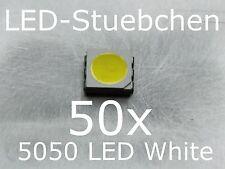 50x 5050 Kaltweiss SMD LED PLCC6 3-Chip Gurtabschnitt