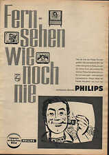 """Berlin, PHILIPS TV, advertising 1960, """"television like never before"""" TV technology"""
