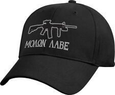 Black Molon Labe Sniper Rifle Deluxe Low Profile Baseball Hat Cap