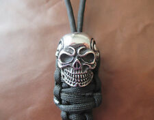 Skull - Lanyard Schlüsselanhänger aus Paracord für Taschenmesser Ziehhilfe