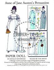 Reprint - Anne Of Jane Austen'S Persuasion Paper Doll - Donald Hendricks