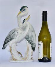 Magnificent KARL ENS Pair of Heron Figure Group 32.5cm #1491
