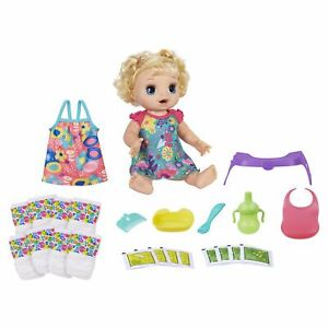 Baby Alive Happy Hungry Baby Blond Curly Hair, Walmart Exclusive Bonus Pack
