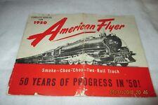 Vintage American Flyer Trains 1950 Dealer Catalog D1578