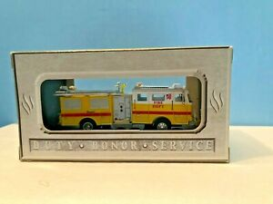 Boley #2502-78 Seagrave Yellow w/White Top Fire Truck Retired Authentic