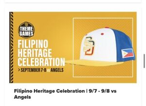 2021 San Diego Padres Filipino Heritage Theme SnapBack Hat Exclusive Sold Out