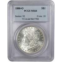 1880 O Morgan Dollar MS 64 PCGS 90% Silver $1 US Coin Collectible
