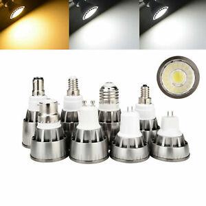 GU10 MR16 Dimmable LED COB Spotlight Bulbs B22 E14 E27 GU5.3 B15 7W 9W 12W Lamps