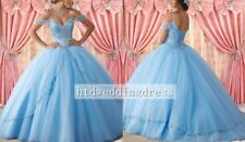 Custom Quinceanera Dress Beading Prom Gown Wedding Dress Size 4-6-8-10-12-14++
