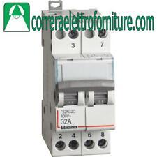Bticino F62N32C commutatore doppio con zero centrale 2NO 32A 2 moduli DIN