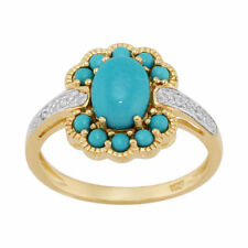 Turquoise Cluster Natural Not Enhanced Fine Gemstone Rings