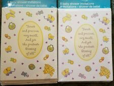 2 packs of Tender Thoughts Boy or Girl Baby shower invitations Cute Animals Nip