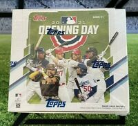 ⚾️ In Hand ⚾️ 2021 Topps Opening Day Baseball Factory Sealed Hobby Box