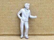 Mann mit Stoppuhr in der Hand, Zinnfigur Nr. 30, unbemalt, Omen, 1:43