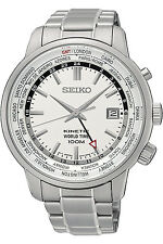 SEIKO SUN067P1,Men KINETIC GMT,Stainless Case,Bracelet,Brand NEW,100M WR,SUN067