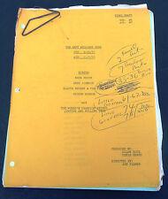 Vtg Original Andy Williams Show Script November 7 1970 Kate Smith Gladys Knight