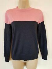 & Other Stories Metallic Glitter Blue Pink Long Sleeve Jumper Thin Knit Sweater