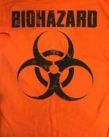 BIOHAZARD cd lgo DISTRESSED SYMBOL Official Orange SHIRT LRG New uncivilization