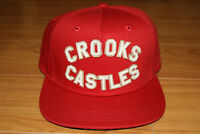 Crooks and Castles Big Logo Red Snapback Hat Cap Brand New with Tags