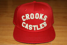 Crooks and Castles Red Concrete Jungle Snapback Hat Cap Brand New with Tag