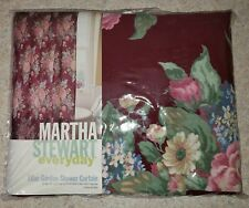 New Martha Stewart Cranberry Lilac Garden Fabric Shower Curtain