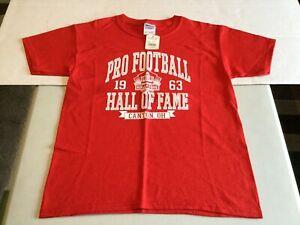 NWT - Pro Football Hall of Fame Youth Kids T-shirt (MEDIUM) Red by GILDAN Brand