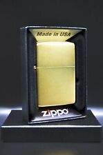 24 Karat (24K / 24Ct) Gold Plated Zippo® Lighter with Satin Finish - Made in USA