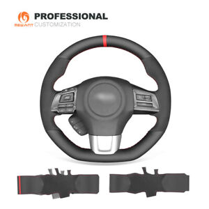 Hand Stitched Leather Suede Car Steering Wheel Cover for Subaru WRX (STI) Levorg
