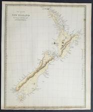 1838 SDUK Large 1st edition Original Antique Map of New Zealand