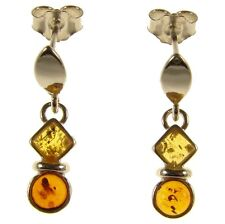 Orecchini di lusso con gemme multicolore in argento sterling ambra