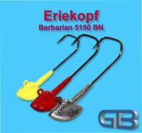 5 x VMC Barbarian 5150 BN 5/0-6/0 Bleikopf 20g - 42g Eriekopf Erie Jig Jighaken