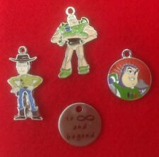 Set of 4 X Pixar Toy Story (TV Characters) Metal Enamel Charms For Pendants (F4)