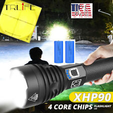300000lm Most Powerful Light XHP90 LED Flashlight USB Rechargeable Torch 26650