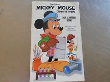 Mickey Mouse Goes to Work (Mix & Match Book)  Walt Disney 1979