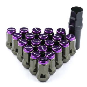 M12x1.25 Project MU Purple Composite SPEC Steel Wheel Nuts Wheel Rims Lug Nuts