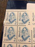 US Block Scott #2169 2c Mary Lyon [4] MNH
