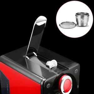 STAINLESS STEEL REFILLABLE REUSABLE COFFEE-FILTER CAPSULE POD CUP FOR NESPRESSO