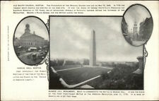 Boston MA Multi-View Bunker Hill Faneuil Hall & Church c1910 Postcard