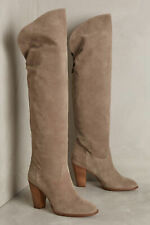 Miss Albright Womens Jora Tall Suede Boots Gray 10 New