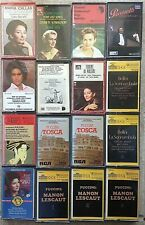 Operas & Opera Singers ~ 16 CASSETTES ~ Horne ~ Callas ~ Pavarotti ~ Schwarzkopf