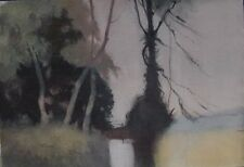 View in Wales, TREES NEAR A POOL WILLIAM EYRE  Watercolour Original Art Work