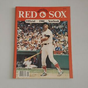 1980 Boston Red Sox Official Yearbook Fred Lynn Cover