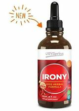 Liquid Iron Supplement Kids Herbal Formula Elderberry Flavor Gluten Free 2 oz