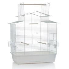 Vogelkäfig Vogelhaus Freiflug *XL* 'Big Iza Open' mit Näpfen 59x38x65 cm weiß