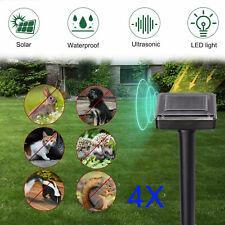 4 Pcs Solar Ultrasonic Animal Repellers Outdoor Repellent for Bird Mice Pest Rat